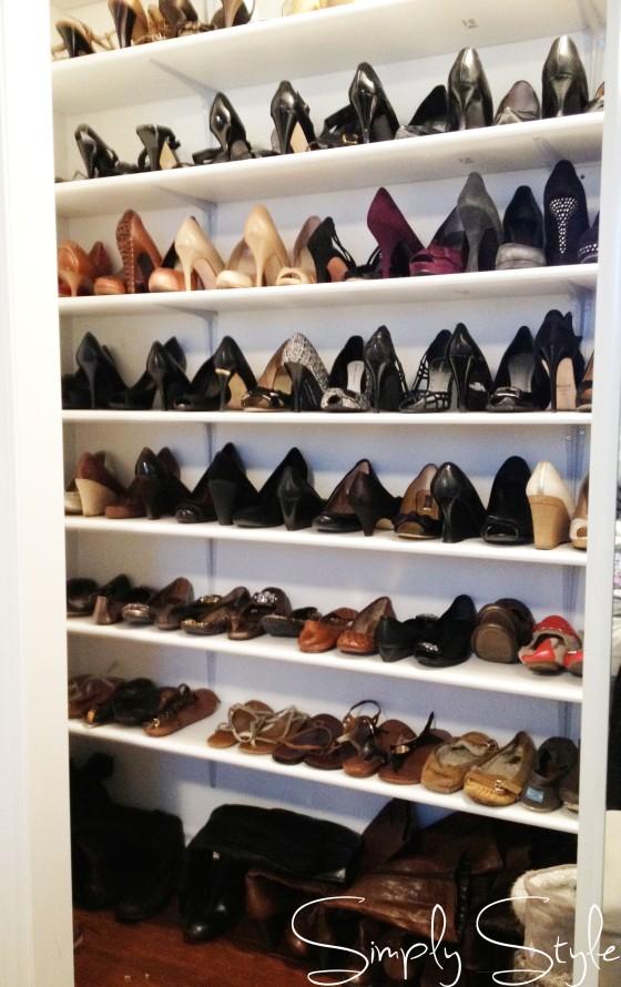 Simply Style Blog - Shoe Closet