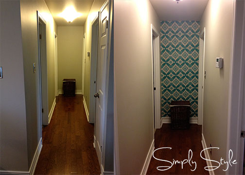 Fabric Wall Before and After