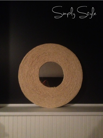 Simply Style Blog - Designer on a Dime: DIY Rope Mirror