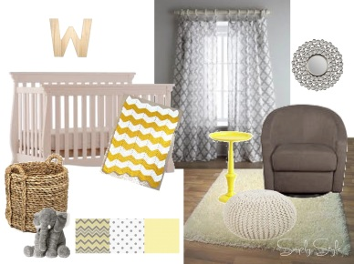 Simply Style - Stone's Gender Neutral Grey and Yellow Nursery
